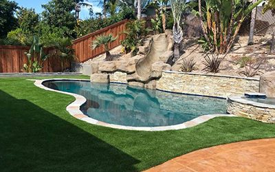 Vegas Artificial Grass pool installation