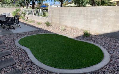 Vegas Artificial Grass backyard project